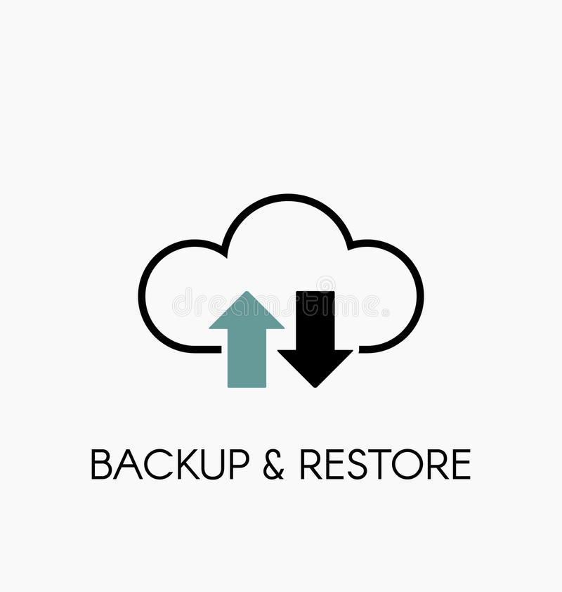 data cloud icon  backup and restore sign stock vector