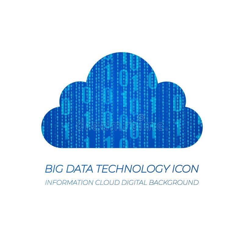 Data Clound, bakgrund för symbol för informationsmolnVEKTOR stock illustrationer