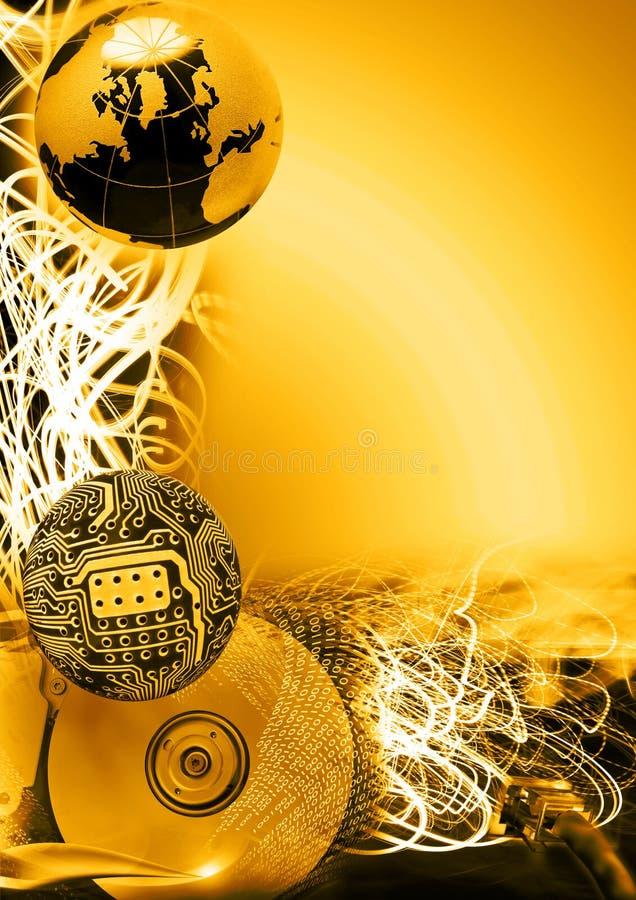 Data communication- Golden Version stock photography