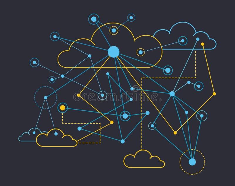 Data communications vector illustration