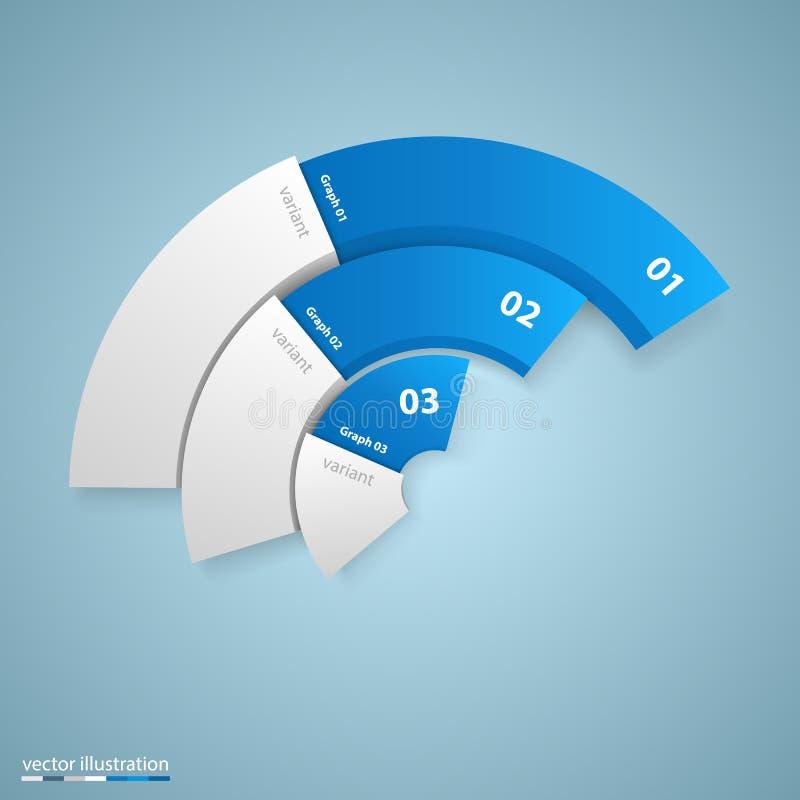 Data 3d growth chart art info vector illustration