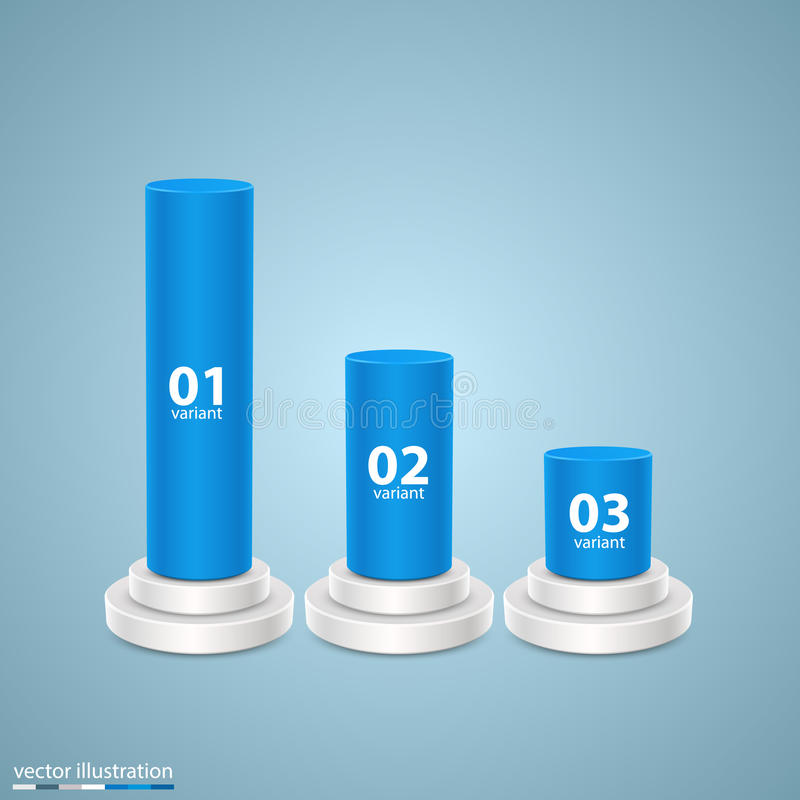Data 3d growth chart art info royalty free illustration