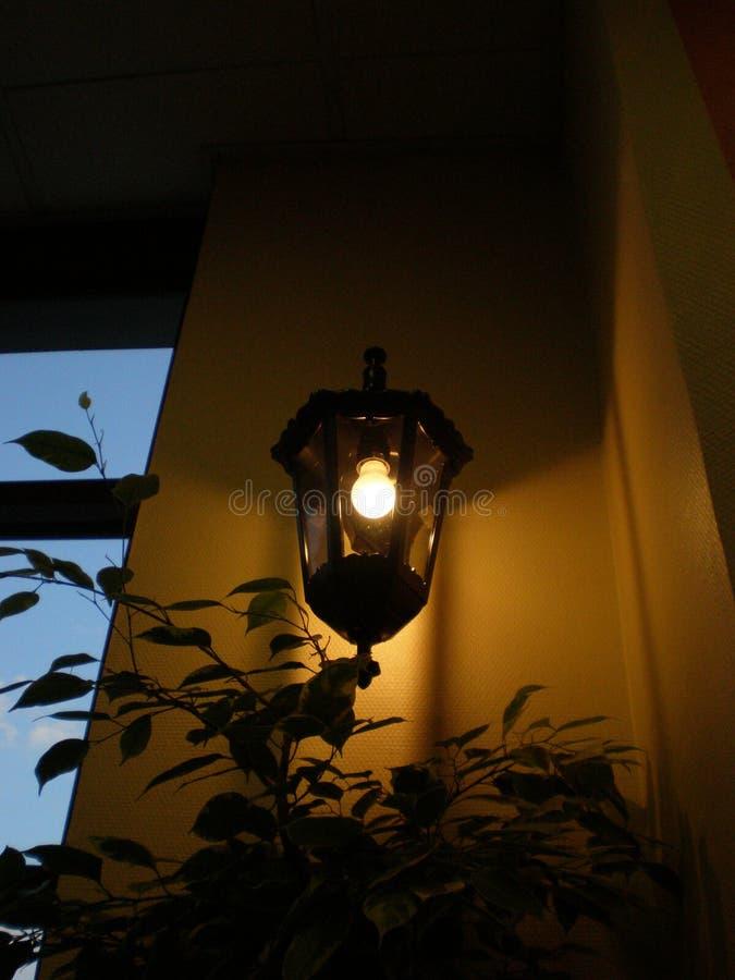 Data da lanterna em Moscou foto de stock