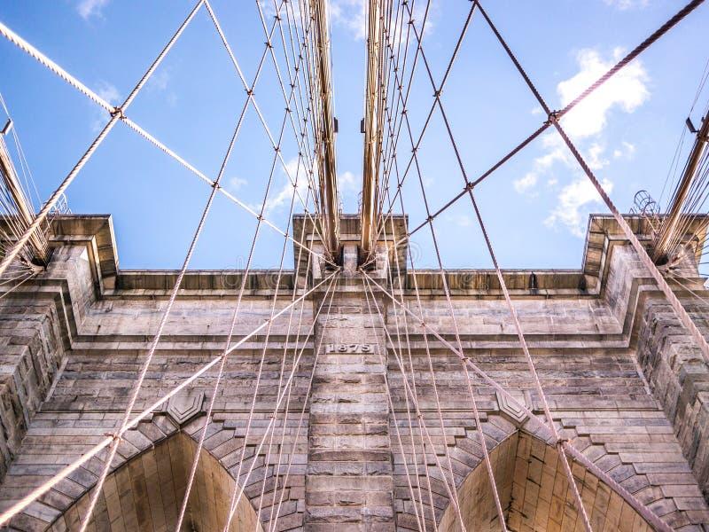 Data da ponte de Brooklyn fotos de stock royalty free