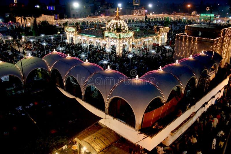 Data Darbar Uras 2010. Beautiful Pakistan Night view of Uras Data Darbar 2010 Lahore Punjab Pakistan stock photography