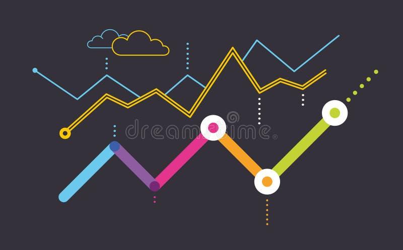 Data dashboard vector illustration