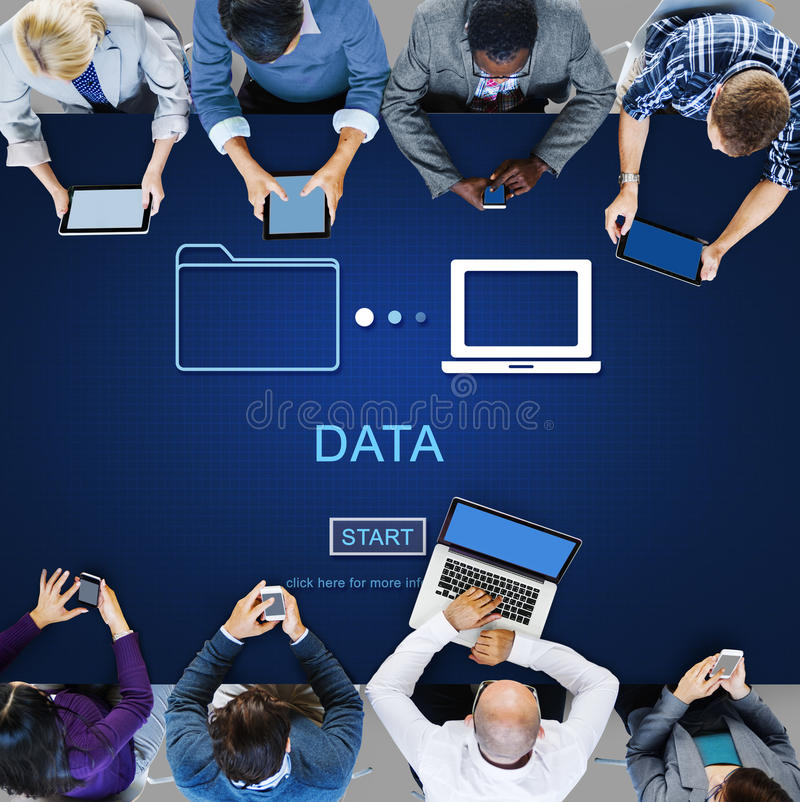 Data Database Analysis System Information Concept royalty free stock images