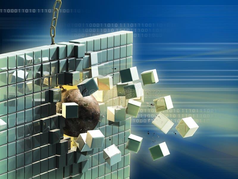 Data destruction stock illustration