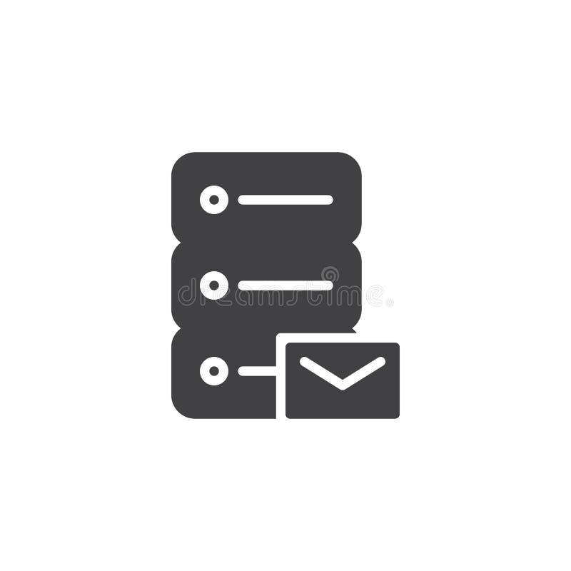 Data email storage vector icon stock illustration