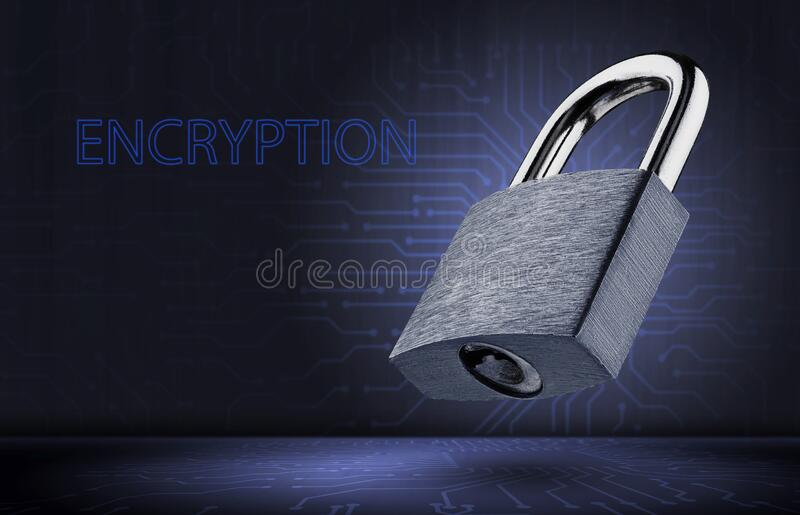 Data encryption concept. Personal data protection royalty free stock images