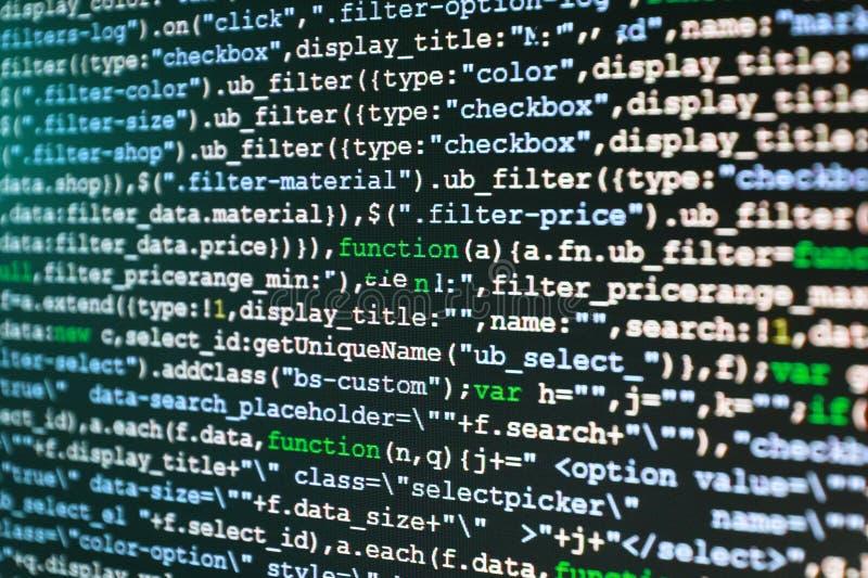 Data för datorkod arkivbilder