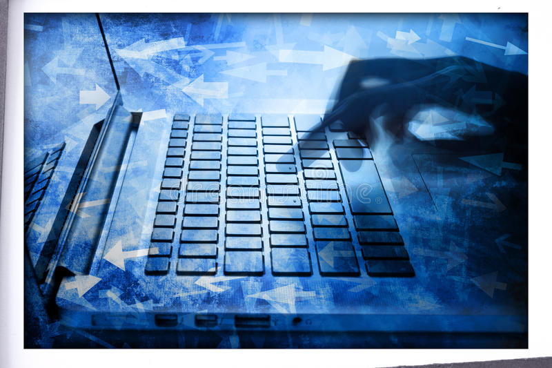 Data för teknologi för datoraffär arkivfoto