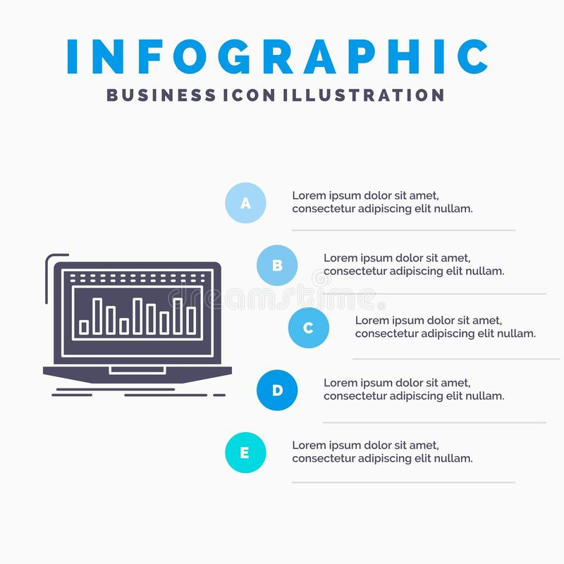 Data, financial, index, monitoring, stock Infographics Template for Website and Presentation. GLyph Gray icon with Blue vector illustration
