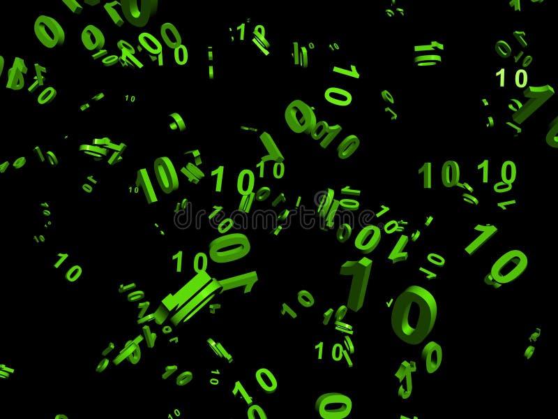 Data flow. Data transmission by digital flow in network royalty free illustration