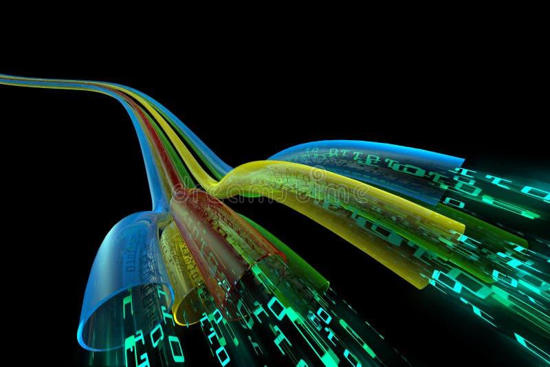 Download Data flow stock illustration. Image of downloading, lines - 6748940
