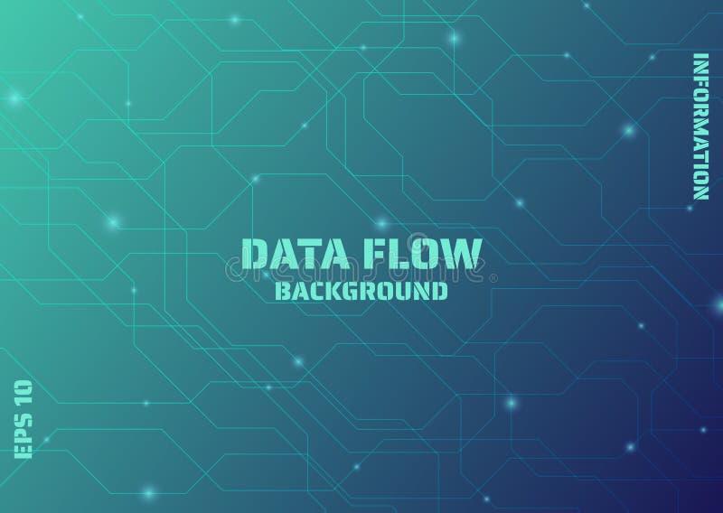 Data flow background modern design line complex style with light flow. Vector illustration stock illustration