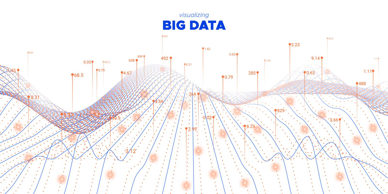 Data Flow. Fluid Statistic Background. Cyber. Concept. Graph Big Data. Orange Virtual Effect. Futuristic Information. Fluid Coding Fractal. Linear Big Data stock illustration