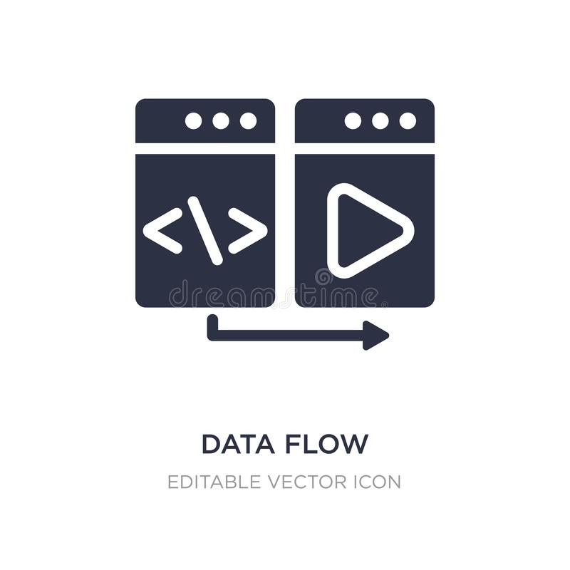 data flow icon on white background. Simple element illustration from Multimedia concept vector illustration