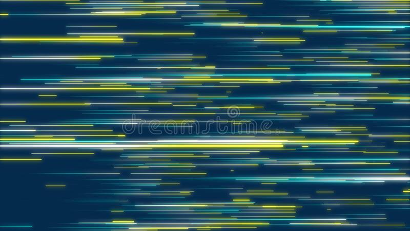 Blue and yellow abstract radial lines effect background stock illustration