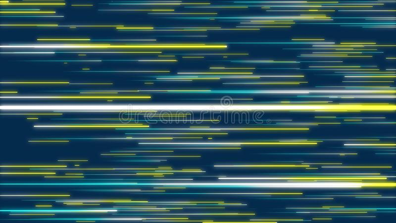 Blue & Yellow abstract radial lines, geometric effect background. royalty free illustration