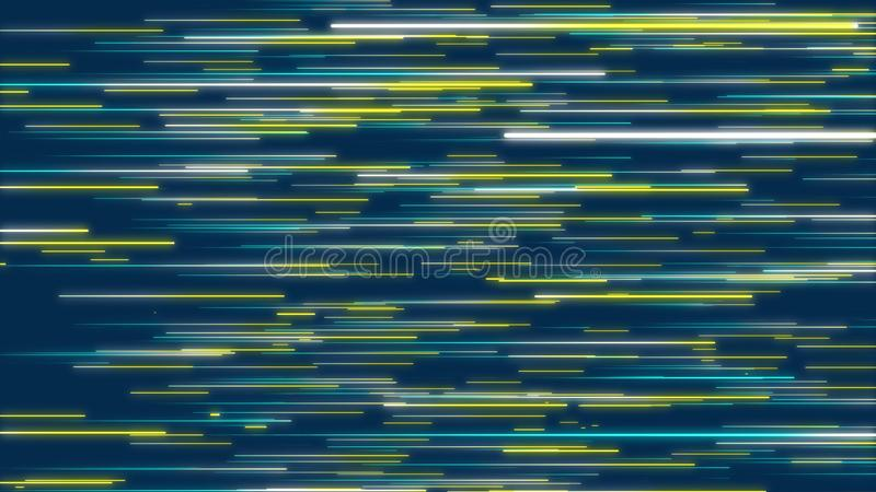 Blue & Yellow abstract radial lines, geometric effect background. vector illustration