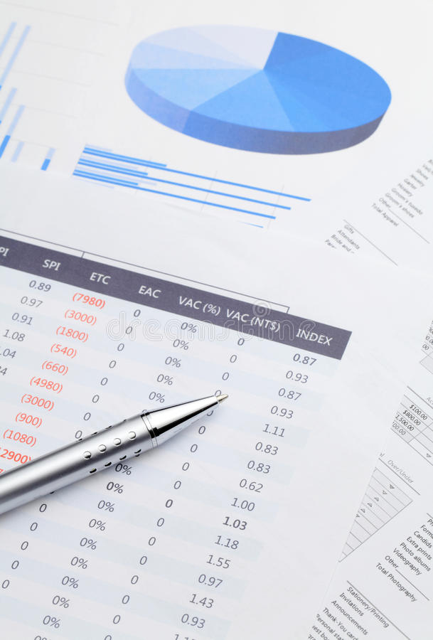 Data and graphical analysis royalty free stock image