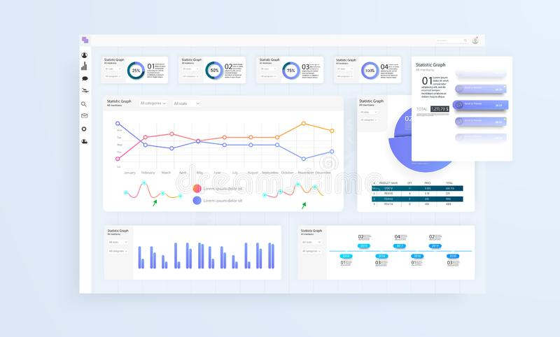 Data Infographic Application UI UX. Modern intelligent infographic diagram vector interface. Vector illustration vector illustration