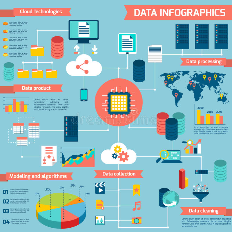 Data infographic set vector illustration