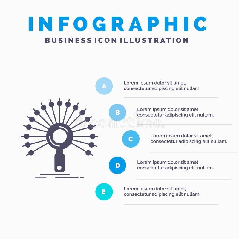 Data, information, informativt, n?tverk, ?tervinnandeInfographics mall f?r Website och presentation Gr? symbol f?r sk?ra med bl?t royaltyfri illustrationer