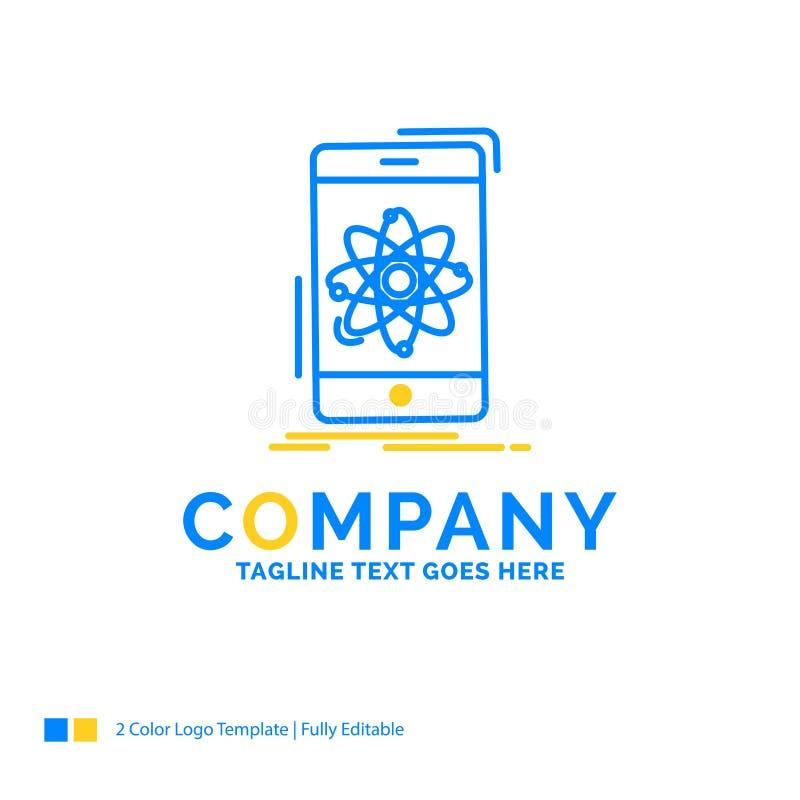 data information, mobil, forskning, blå gul affär för vetenskap vektor illustrationer
