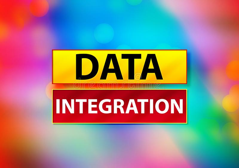 Data Integration Abstract Colorful Background Bokeh Design Illustration royalty free illustration