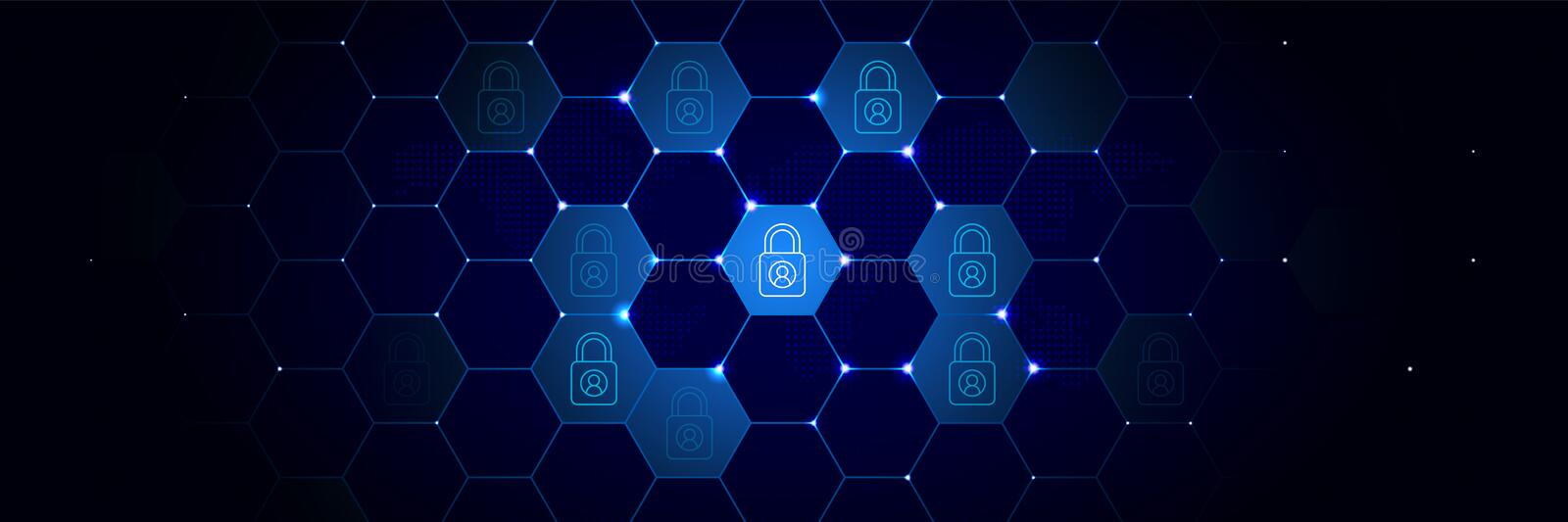 Data, lock icon from General data project set in the technological. Comb background stock illustration