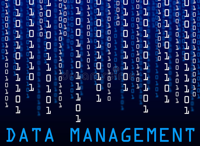 Data management vector illustration