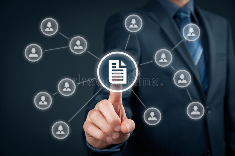 Data management royalty free stock photography