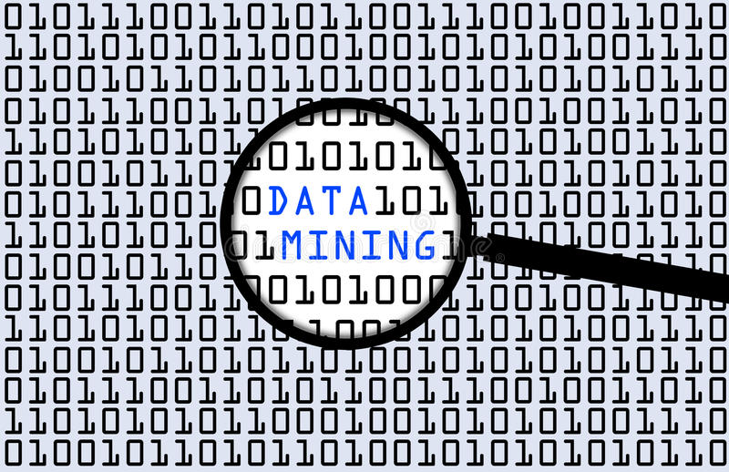 Data mining stock illustration