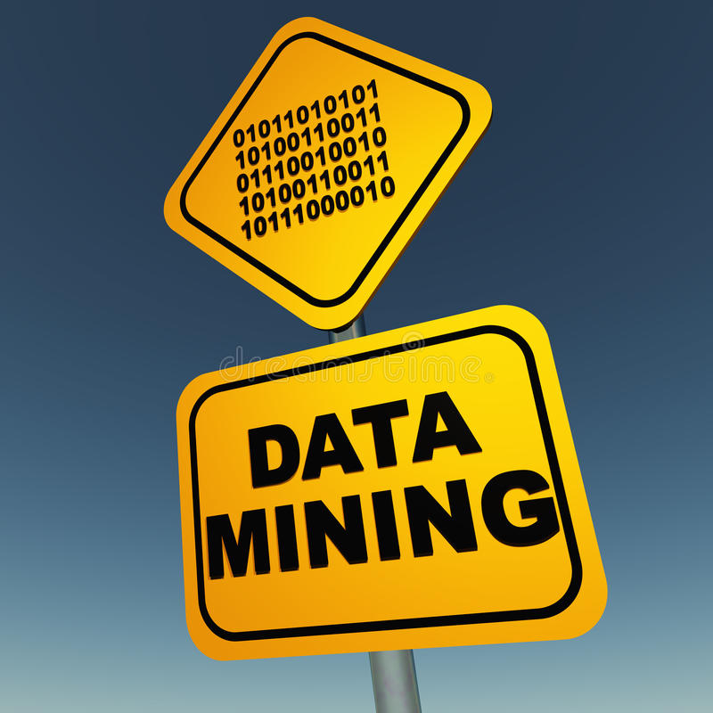 Data mining stock illustration