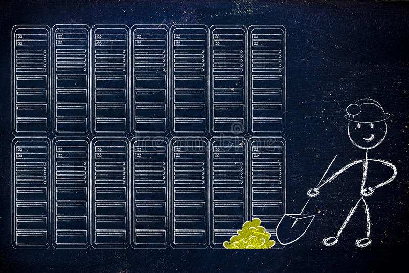 Data mining e business intelligence immagini stock libere da diritti