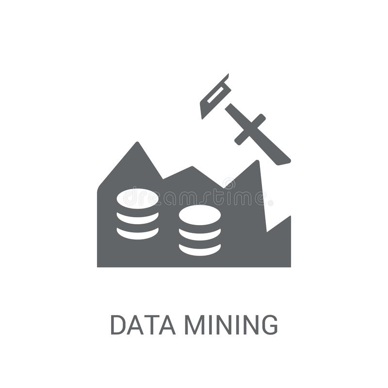 Data Mining icon. Trendy Data Mining logo concept on white background from Artificial Intelligence collection stock illustration