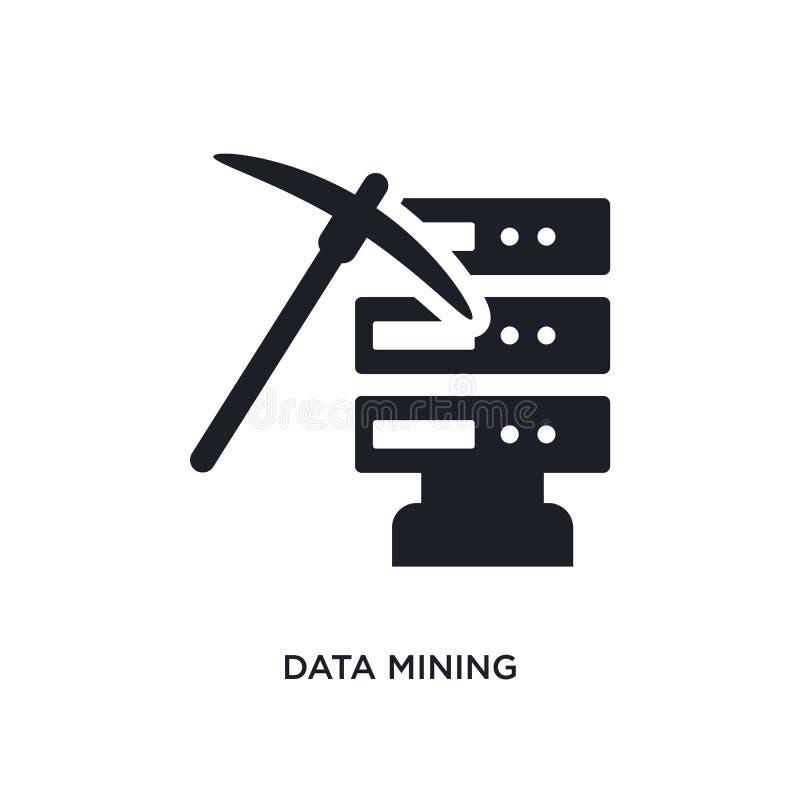 Data - Mining lokalisierte Ikone einfache Elementillustration von den künstlichen intellegence Konzeptikonen editable Logozeichen vektor abbildung
