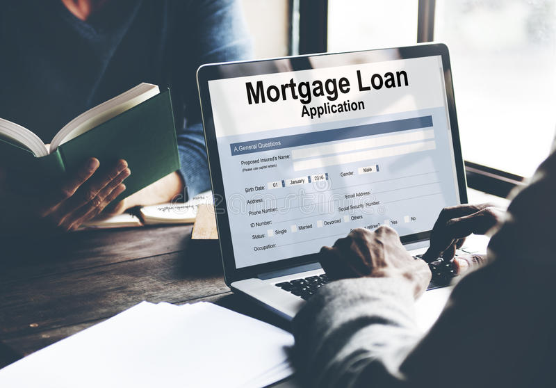 Data Mortgage Loan Application Concept royalty free stock photo