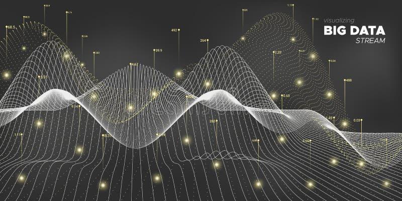 Data Motion. White Statistic Visualization. royalty free illustration