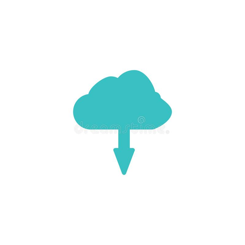 Cloud icon. Server system sign royalty free illustration