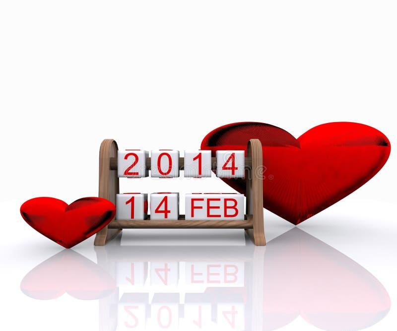 Download O dia de Valentim ilustração stock. Ilustração de partido - 29842798