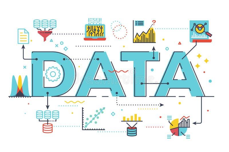 Data och information royaltyfri illustrationer
