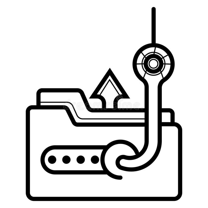 Data phishing, hacking online scam. Icon vector illustration