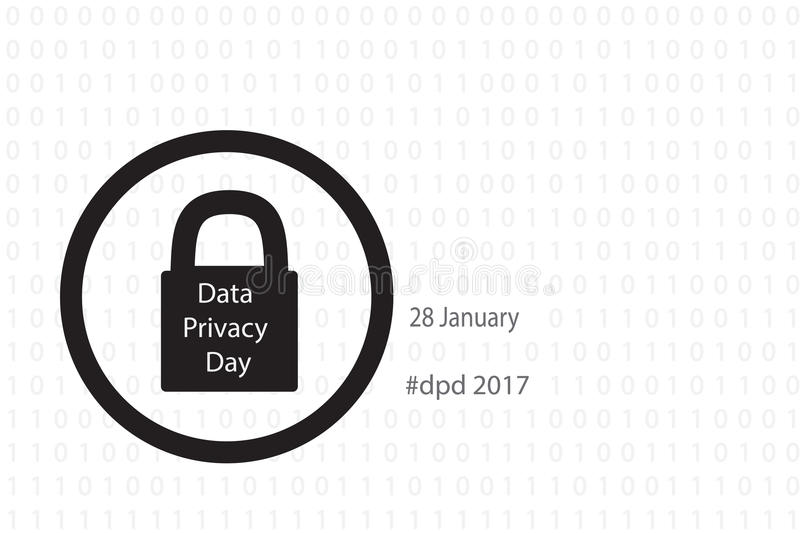 Download Data privacy day stock vector. Image of secure, data - 83714344