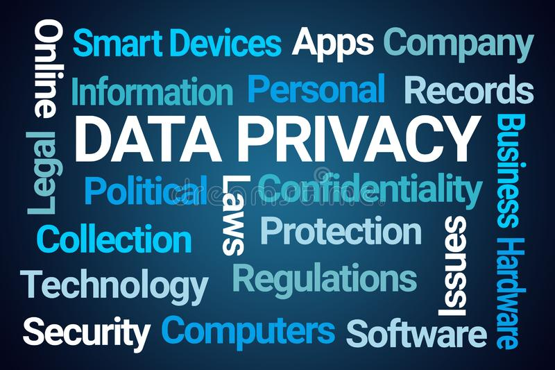 Data Privacy Word Cloud royalty free illustration