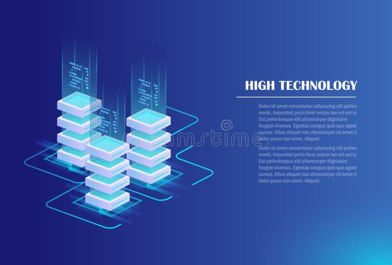 Data processing concept stock illustration