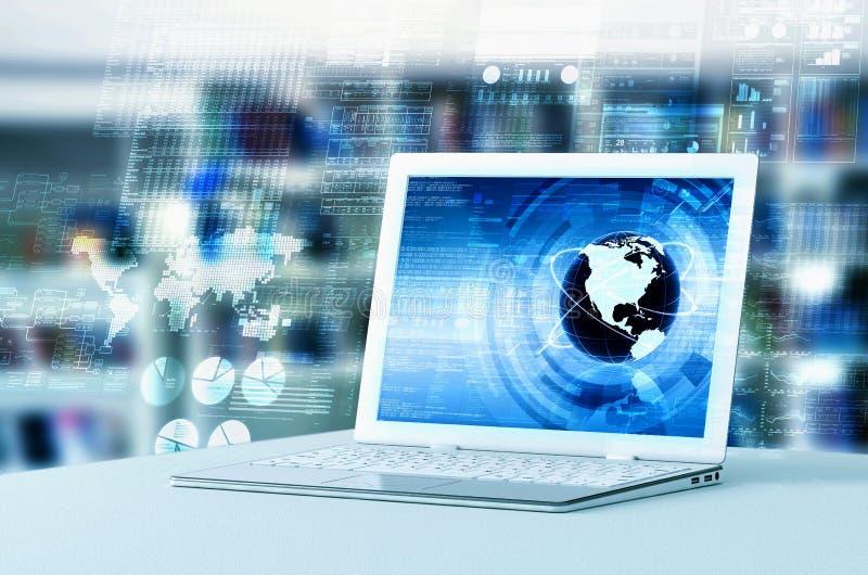Data Processing Laptop royalty free illustration