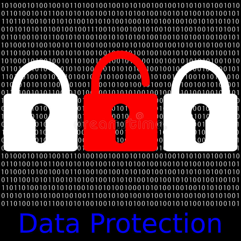 Data Protection. An abstract illustration data protection stock illustration